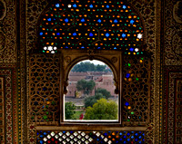 Bikaner - a bejeweled window at the Junagarh fort